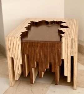 Water fall Side table (front)