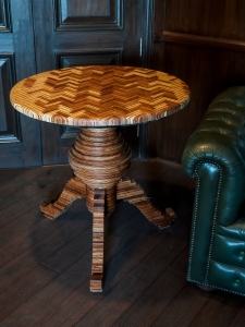 tripod table with plywood top